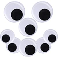 Includes Self Adhesive on Backs Bastex 3 inch Giant Googly Wiggle Eyes 4 Pack Arts /& Crafts, Big Wiggly Eyes for Decorations