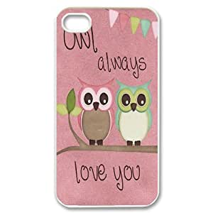 Unique Phone Case Design 19Cute Owl,Owl You Need is Love- For Iphone 4 4S case cover