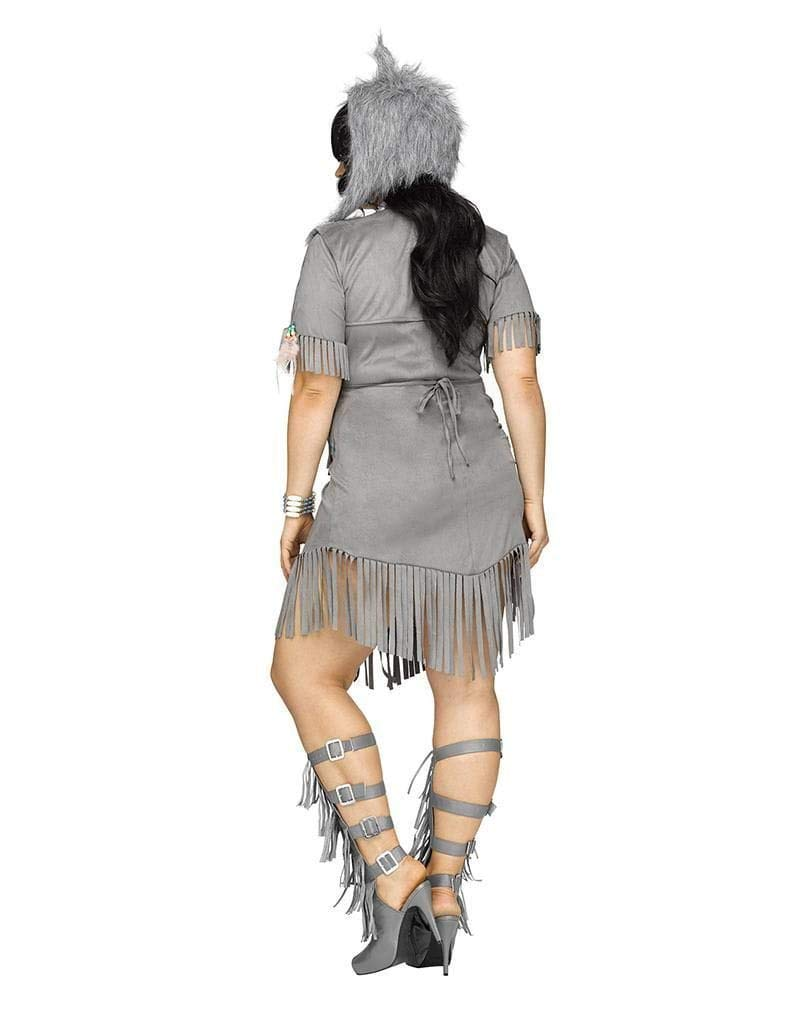 Horror-Shop Sexy Wild West Wolf Jägerin Damenkostüm für Karneval Plus Plus Plus Größe XL 14c10b
