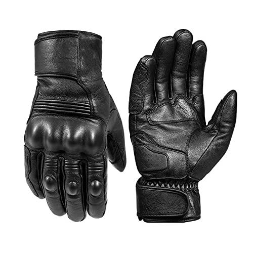 Leren motorhandschoenen waterdicht en winddicht winter warm zomer ademend aanraakbediening motorfiets vuist handpalm…