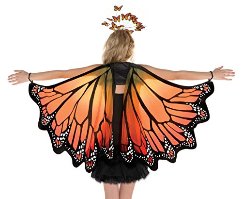 AMSCAN Monarch mariposa alas disfraz de Halloween accesorios para adultos, talla única