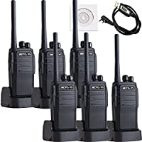 Retevis RT21 Security Walkie Talkies 3W Scrambler 16 CH UHF 400-480MHz VOX Two Way Radio(6 Pack) and Programming Cable