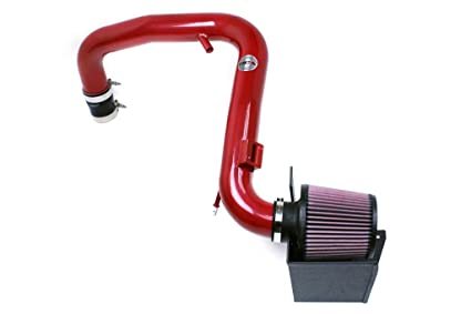 HPS Red Shortram Air Intake Kit + Heat Shield for 14-15 Ford Fiesta ST