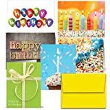 72 Birthday Cards for $43.99 - It's Your Birthday - Blank Cards - 12 Birthday Cards Each of 6 Different Designs, Yellow Envelopes Included.
