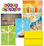 72 Birthday Cards - It's Your Birthday - 6 Designs - Blank Cards - Yellow Envelopes Included