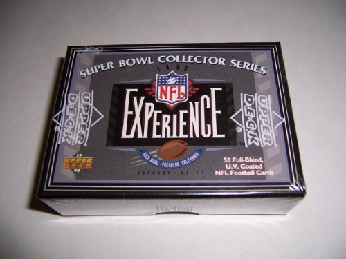Experience Nfl Bowl Super (NEW 1993 SEALED NFL EXPERIENCE SUPER BOWL COLLECTOR SERIES 50 CARD SET)
