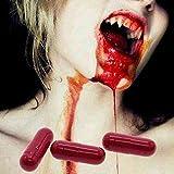 certainPL Fake Blood Capsule, Realistic Fake Blood Mouth Capsule Pill Halloween Prop (10PCS)
