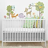 RoomMates RMK1398SCS Woodland Animals Peel and Stick Wall Decals