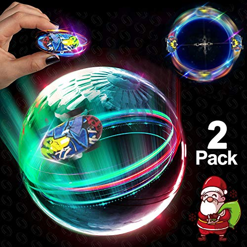 2 Pcs Mini RC Stunt Car 2019 New Year Party 360° Rotating High-Speed Racing Car with 5 Mode Hand Remote Control Toy Led Spin Hobby Vehicles Crawlers Chariot Climber Girl Boy Christmas Birthday Gifts