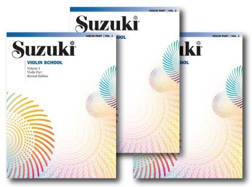 - Suzuki Violin School, Violin Part - 3 Book Set - Includes Volume 1, Volume 2 and Volume 3