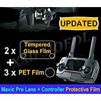 XSD MODEL Upgraded HD Camera Lens Protective Film + Remote Controller Screen Tempered Glass Film for DJI MAVIC PRO