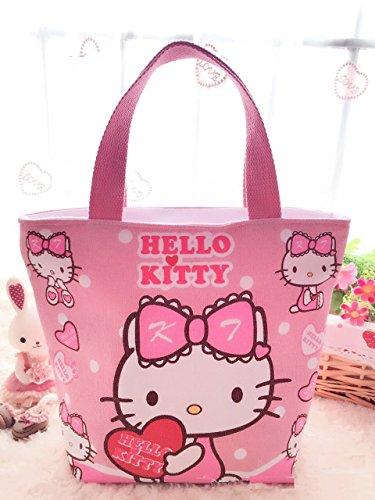 CJB Sanrio Hello Kitty Lovely Multipurpose Lunch Bag (pink heart)