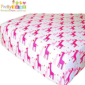 1 Soft & Breathable Fitted Baby Crib Sheets for Better Sleep. Premium, Durable Muslin Cotton Toddlers Sheets in Cute Colors for Girls. A Perfect Baby Shower Gift.