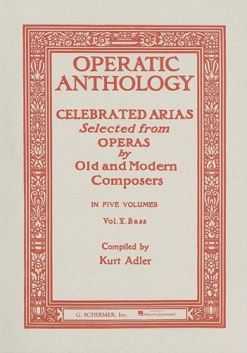Bagdad Music Book - Operatic Anthology - Volume 5: Bass and Piano