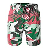 Camouflage Monstera Leaf Pink