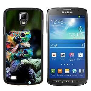 YiPhone /// Prima de resorte delgada de la cubierta del caso de Shell Armor - Naturaleza Peces de Arrecifes de Coral Buceo colorido - Samsung Galaxy S4 Active i9295