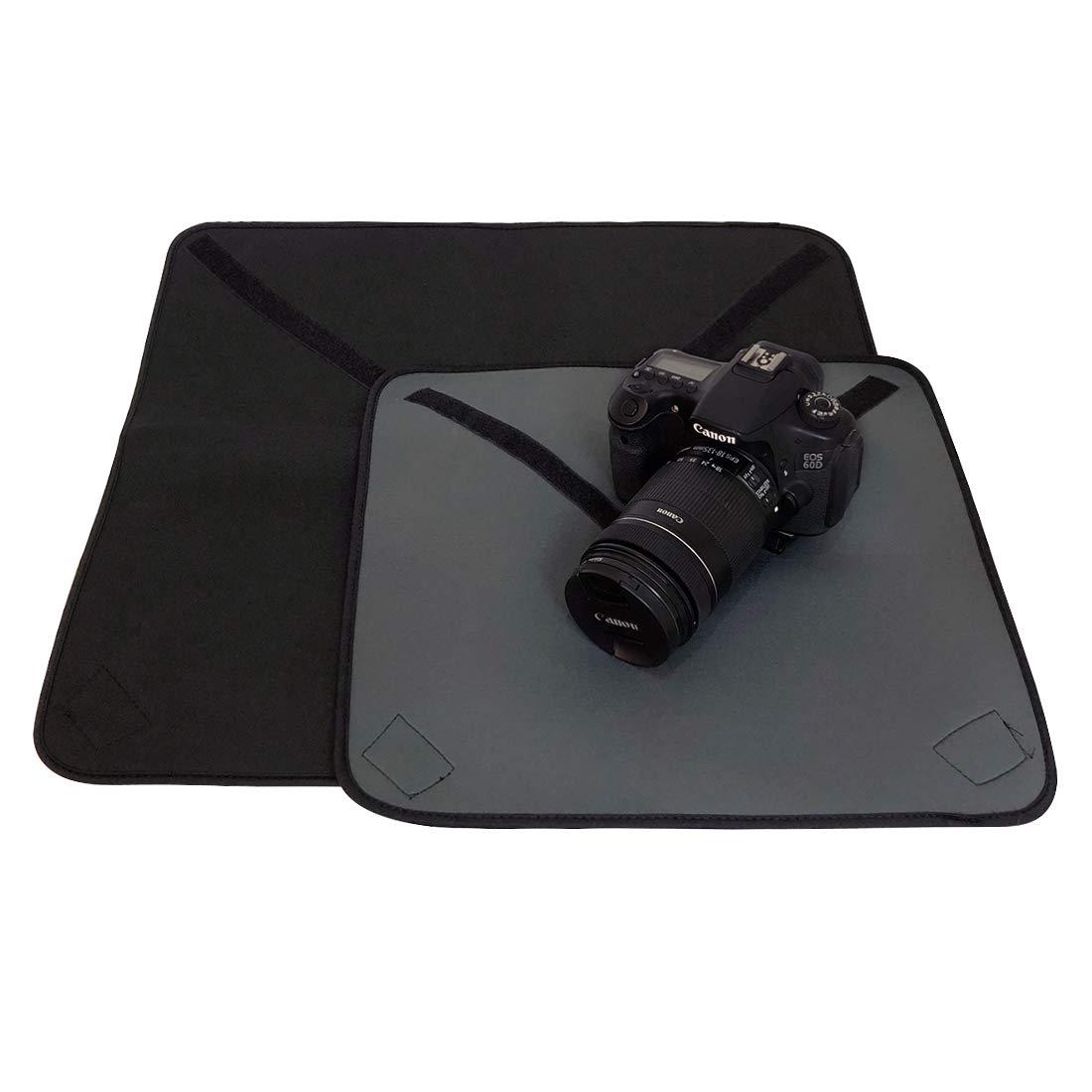 kilofly ネオプレン ベルクロ 調節可能 保護 DSLR カメラ ラップ アラウンド ポーチ カバー クロス 16と22インチ ミディアム XL スクエア B07PHYCJLS