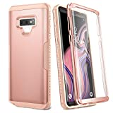 YOUMAKER Case for Galaxy Note 9, Full Body Heavy Duty Protection with Built-in Screen Protector Shockproof Rugged Cover for Samsung Galaxy Note 9 (2018) 6.4 Inch - Rose Gold/Pink