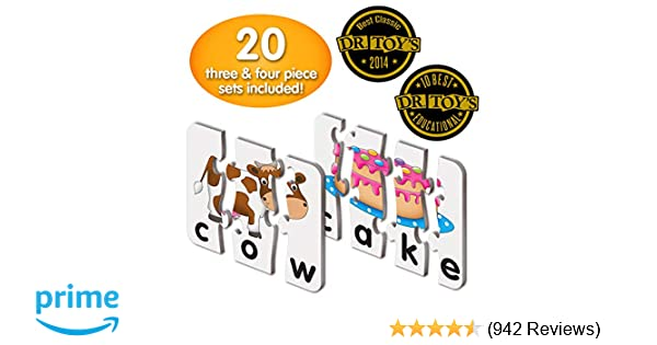 2f2a5c9423 Amazon.com  The Learning Journey  Match It! - Spelling - 20 Self-Correcting  Spelling Puzzle for Three and Four Letter Words with Matching Images  Toys    ...