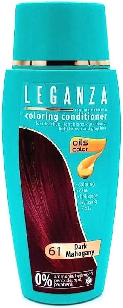 Pack Ahorro de 2 x Tintes Bálsamo para cabello sin ammoniaque color caoba oscuro 61, 7 aceites naturales