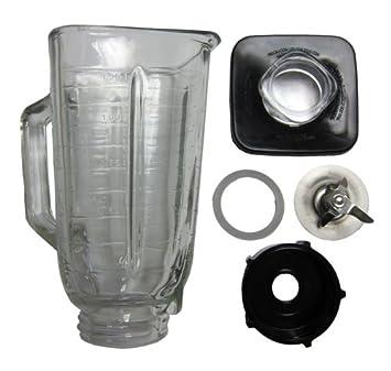 6 piezas Jarra de vidrio Kit de reemplazo para Oster batidoras gset-cs: Amazon.es: Electrónica
