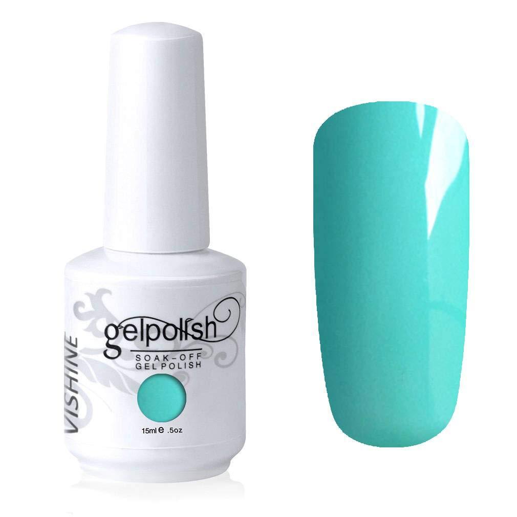 Vishine Gelpolish Long-lasting Gel Nail Polish Soak Off UV LED Manicure Nail Art Turquoise (1622)