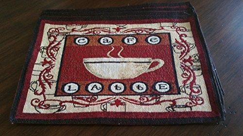 Tapestry 4 Piece Placemat Set - Café (Cafe Tapestry)