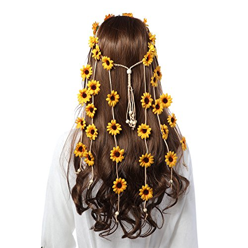 Flower Hippie Headband Floral Crown - AWAYTR Behemain