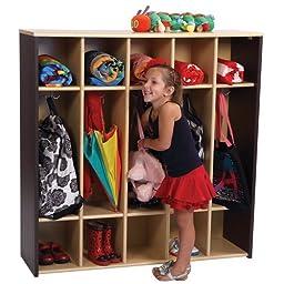 Color Coodinated Mocha Preschool Locker