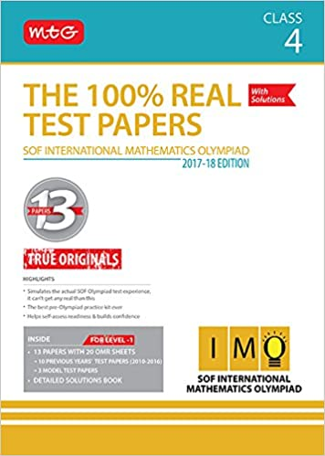 Buy The 100% Real Test Papers (IMO) Class 4 Book Online at