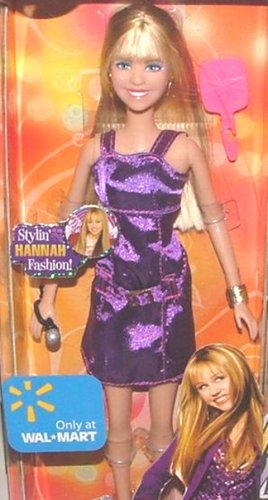 Disneys Hannah Montana Fashion (Disney Hannah Montana Stylin Fashion Doll Purpld Dress with Mic)
