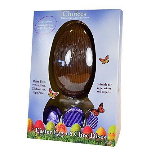 Choices Easter Egg & Milk Chocolate Discs - Dairy Free Milk