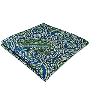 Shlax&Wing Unique Paisley Neckties For Men Blue Green New Design Silk Tie Skinny Extra Long