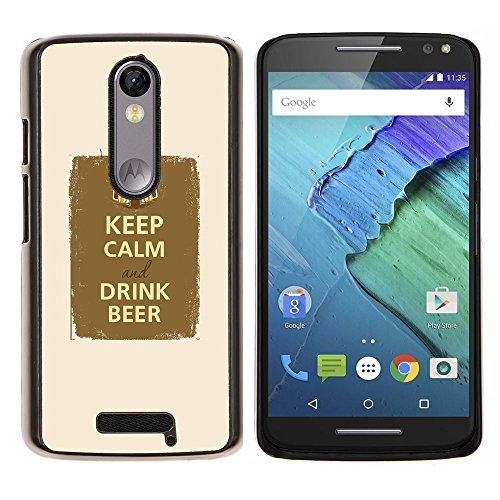 Party Fraternity - Aluminum Metal&Hard Plastic Back Case Cover - Black - Motorola Droid Turbo 2 / Moto X Force (Fraternity Beer)