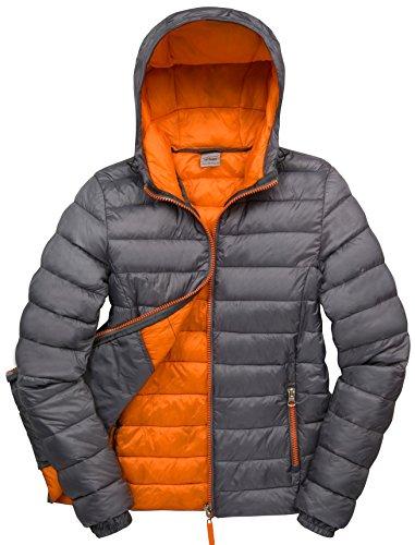 Capuche Orange Gris Femmes Veste À Des Urban Snowbird aEFSFw