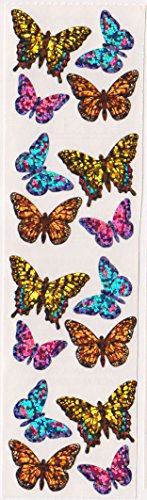 Wild Butterflies Bright Glitter Stickers - 2 Sheets