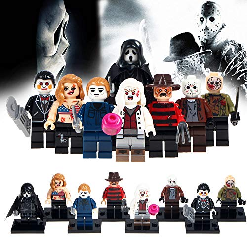 Horror Series Minifigure | 8 Pcs Toy Set | Cake Topper, Party Favor Supplies