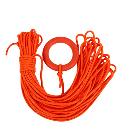 Amyove Water Rescue Rope with Hand Ring, 30M Diameter 8MM Floating Lifeline with Buoyant Rope for Sea Survival Snorkeling, Orange