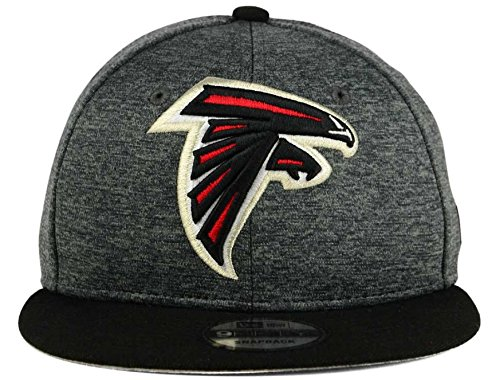 New Era Atlanta Falcons 9Fifty Black & Black Logo Adjustable Snapback Hat NFL New Era Adjustable Hat