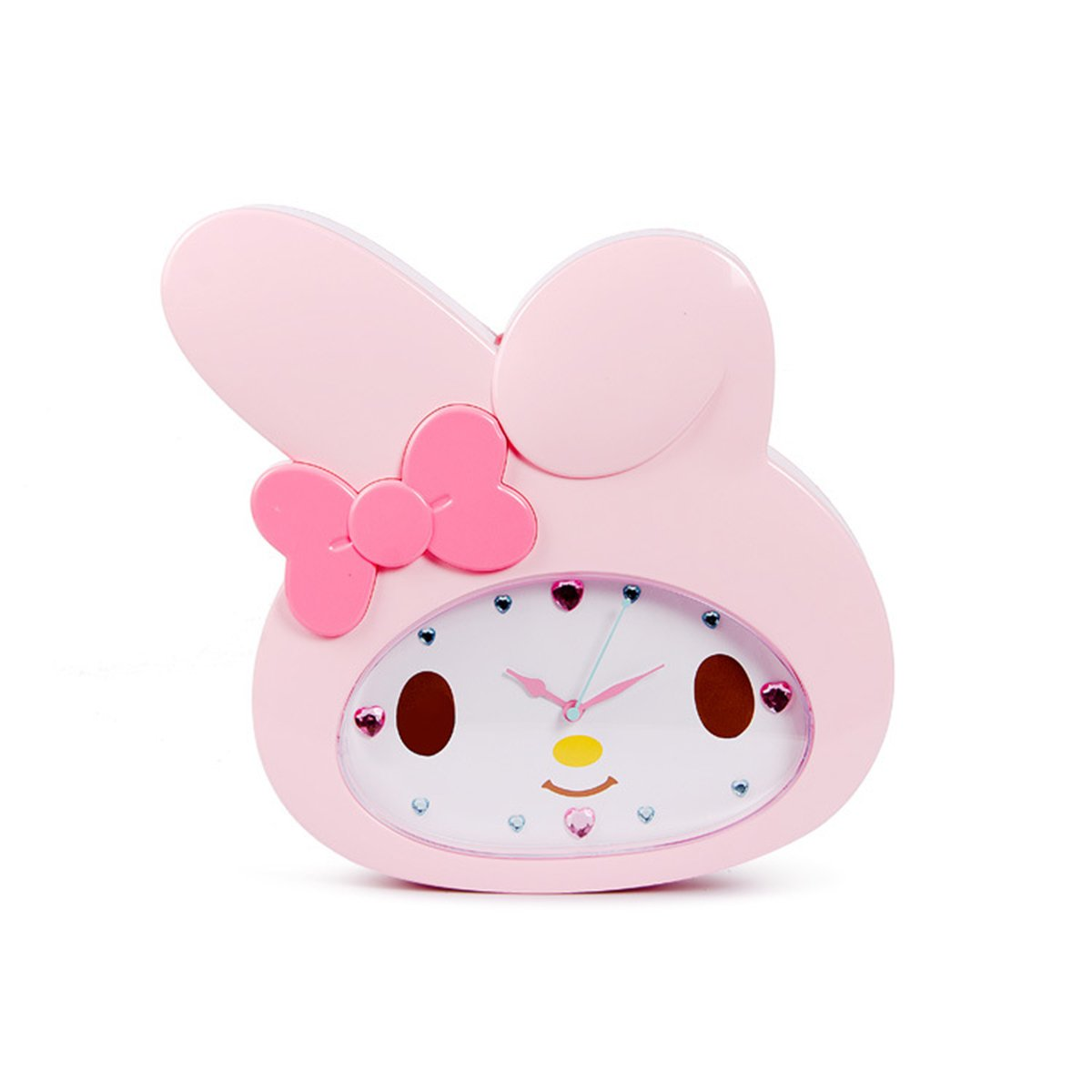 Amazon.com: Cute Cartoon Hello Kitty Anime Children Clock KT Cat Sham Mute Creative Wall Clock (Melody): Home & Kitchen
