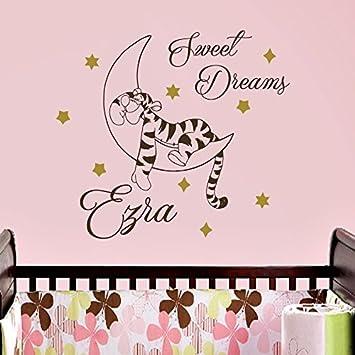 Vinyl Wandtattoo Zitat Sweet Dreams Winnie Puuh the Pooh Tiger Gute ...