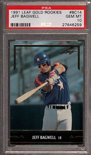 1991 leaf gold rookies #bc14 JEFF BAGWELL houston astros ...