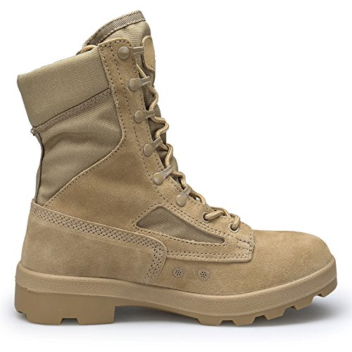 ENLEN and BENNA Combat Boots for Men Military Boots Tactical Boots Coyote Tan Leather Lightweight Composite Toe Brown Black 10 M US by ENLEN&BENNA (Image #2)