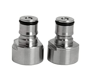UP100Â KCA-Set UP100 Pair Stainless Steel Keg Coupling Ball Lock Liquid and Gas Adapter Cornelius Style for Draft Home Brew Beer Keg