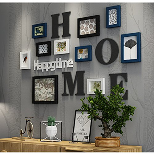 Hyun-shut-ins ? Creative home Dekorationen an der Wand Dekoration Wohnzimmer Wand Wände Schlafzimmer Kombination MalereiDassDie blue box in Schwarz und Weiß lackiert+Der Brief