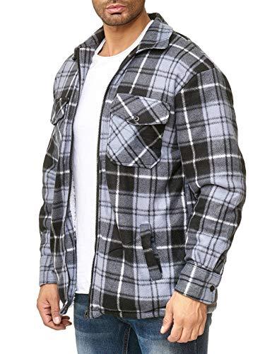 Azzurro Giacca Arizonashopping Lumberjack Fleece Flanella Plaid Termica Uomo  Egomaxx Transizione In Da 15SxqwP6S 0631814a880