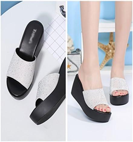 Bao Xing Bei Firm Pantofole/Sandali da Donna/Scarpe con Fondo a Muffin/Ciabatte con Spessa Suola (Size : 35)