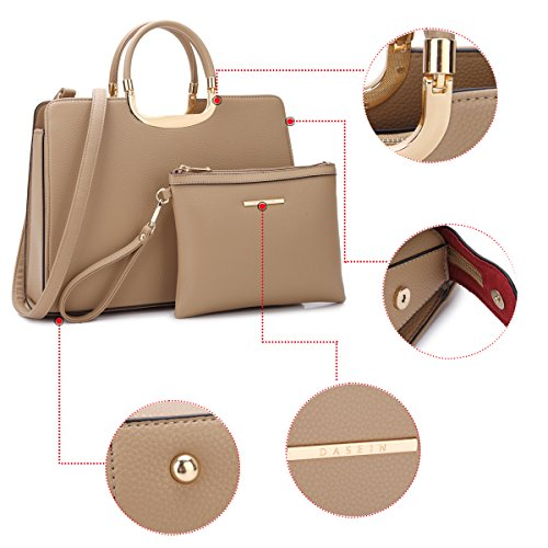 Women's Tote Briefcase Laptop Handbag 1xl19 Designer leather Top Brown Handle Dasein Satchel Stripes Purse PU Bag gdw4qUgn8