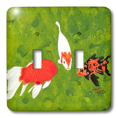 3dRose LLC lsp_15298_2 Koi Fish School Meeting Double Toggle Switch