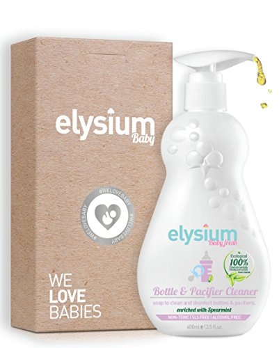 Premium Natural Baby Bottle Liquid Dish Soap By Elysium Eco World (TM): Superior Baby Bottles Cleaner/ Sterilizer/ Natural Antibacterial, Non-Toxic, Bottle, Pacifier / Gentle, Ecological (Scented Baby Bottle)